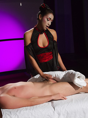 Vicki Chase is a hot Asian masseuse and finds Dane Cross sexually irresistible.